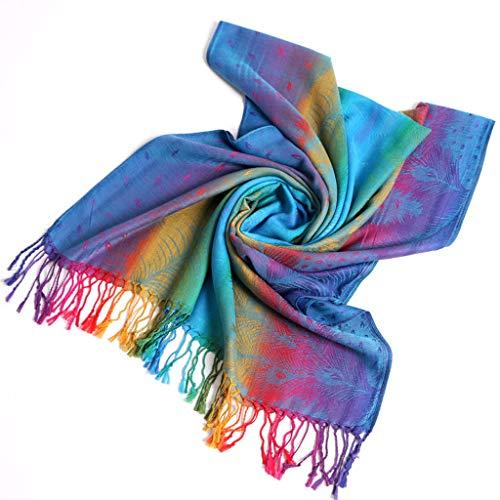Lazzboy Frauen Lady Fashion Folk-custom Retro Quaste Schal Wrap Travel Schals Damen Pashmina Stola Für Schultertuch Eleganter Mit Floralem Muster In Vielen Farben(A)
