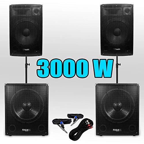 Pack 151515 Sono DJ 3000W Caissons bi-amplifié