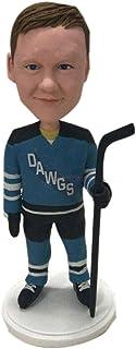 Hockey su ghiaccio Personalizzato Bobble Head Figurine Bambino Hockey su ghiaccio Bobble Head Hockey Torta di compleanno T...