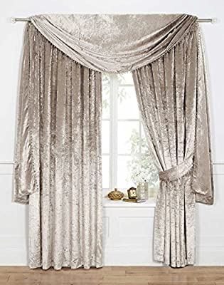 Venezia Plain Velour Curtains/Velvet Range- Available in 5 Colours