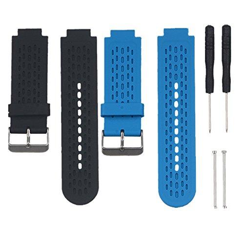 WEINISITE Repuesto Banda de Silicona Correas para Garmin Approach S2/S4 GPS Golf Reloj/ Garmin vívoactive Reloj (2 pcs)