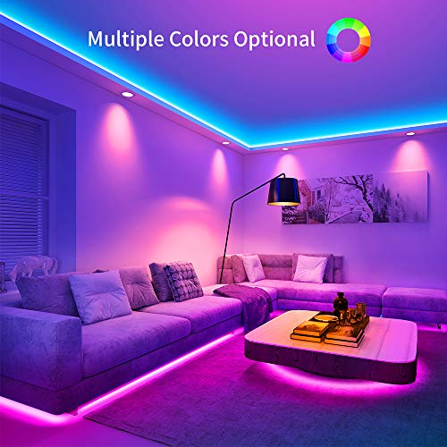 Govee RGB Led Strip Lights, 32.8 Feet, Color Changing Led Lights with Remote for Bedroom, Ceiling 3