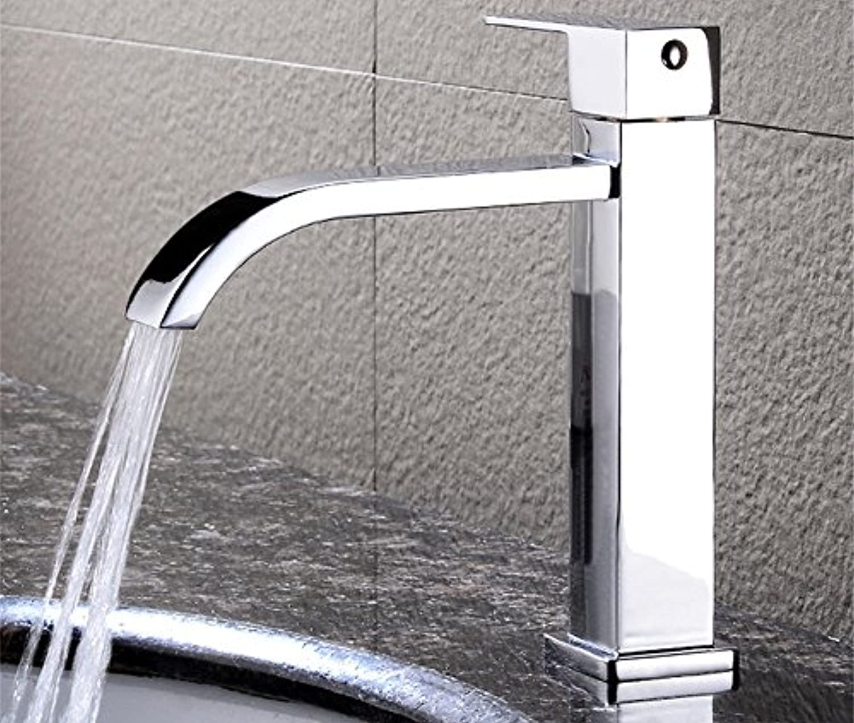ETERNAL QUALITY Badezimmer Waschbecken Wasserhahn Messing Hahn Waschraum Mischer Mischbatterie Tippen Sie auf Waschbecken und kaltes Wasser aus dem Wasserhahn Waschbecken