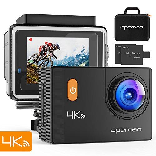 apeman Action Cam 4K WiFi 20MP Unterwasser Kamera wasserdicht 30M Camcorder