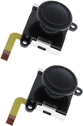 Fenteer NS Joycon対応 コントロール L / R センサー アナログジョイスティック キャップ付き 互換性 2個