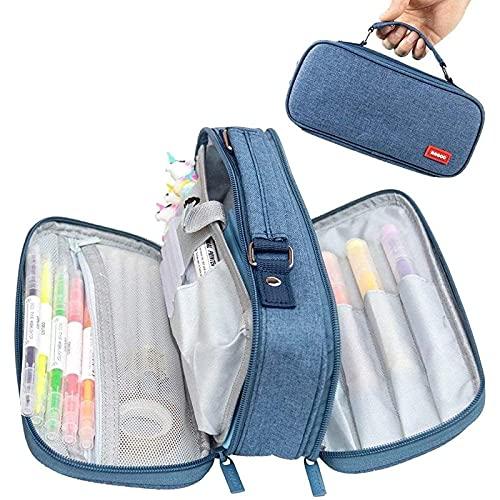 Autumnpoplar Caja de bolígrafo, lápiz de Gran Capacidad, Puede acomodar un Kit de Primeros Auxilios para Suministros de Aprendizaje y Oficina, Adultos y jóvenes