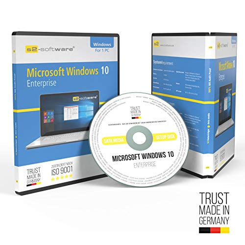 Microsoft® Windows 10 Enterprise DVD mit original Lizenz. Papiere & Lizenzunterlagen von S2-Software GmbH & Co. KG. 32& 64-bit