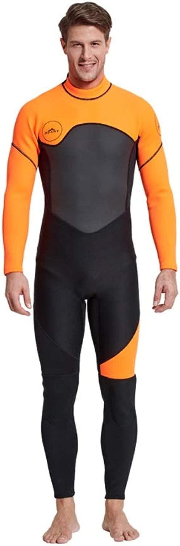 男性プレミアム3ミリメートルネオプレンダイビングスーツ暖かい冬の屋外シュノーケリング長袖クラゲ服 - サーフィン、シュノーケリングスーツワンピース水着