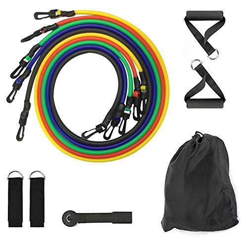 11pcs Fasce di Resistenza Set Expander Yoga Esercizio Fitness Tubi di Gomma Fascia Elastica Allenamento A Casa Palestre Allenamento Corda Elastica di Tiro