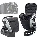 DURAGADGET Housse de Transport Moyenne pour appareils Photo Panasonic Lumix GF8 et DMC-FZ300, Nikon Coolpix B500 et B700 Bridge et...