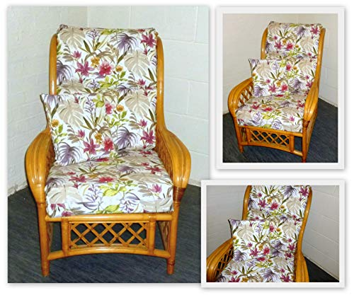 Zippy FUNCHAL BERRY - New Replacement Cushion Covers for Cane Wicker and Rattan Conservatory and Garden Furniture
