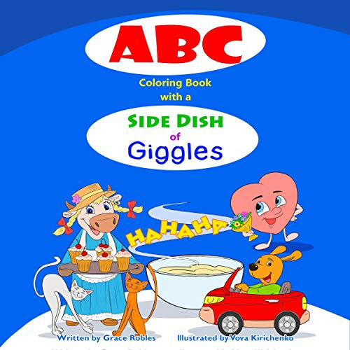 ABC Coloring Book with a Side Dish of Giggles cover art