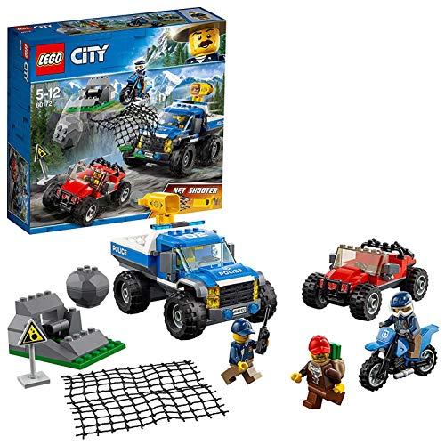 LEGO City Police - Caza en la Carretera, Juguete de Policía de Construcción con Todoterreno y Moto para Niños y Niñas de 5 a 12 Años, Incluye Minifiguras de Agentes de Policía (60172)