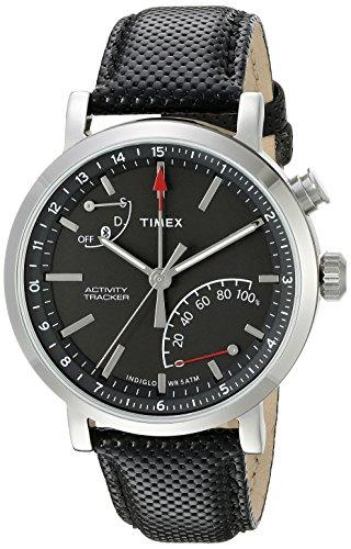 Timex Unisex TW2P81700 Metropolitan+ Black Leather Strap Smartwatch