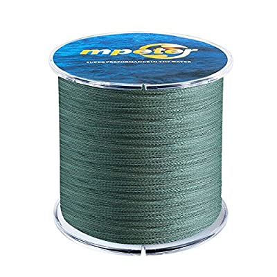 Mpeter Armor Braided Fishing Line, Abrasion Resistant Braided Lines, High Sensitivity and Zero Stretch, 4 Strands to 8 Strands with Smaller Diameter from Mpeter