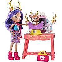 Enchantimals - Clínica de mascotas, muñeca con accesorios (Mattel GBX04)