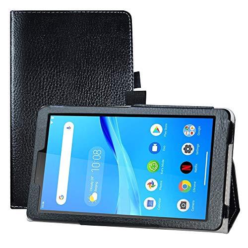 LFDZ Funda Lenovo Tab M7,Soporte Cuero con Slim PU Funda Caso Case para 7' Lenovo Tab M7 (TB-7305F) Tablet,Negro
