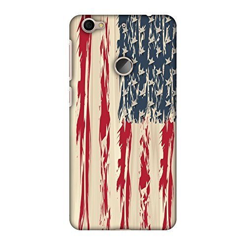 Letv Le 1s Eco Case,LeEco Le 1s Eco Case - USA Flag- Paint Splashes, Premium Handcrafted Designer Snap On Case Printed Hard Plastic Back Cover