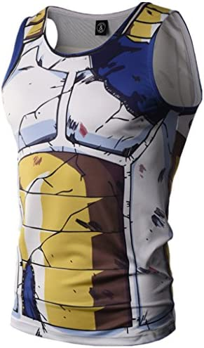 Men s Compression Tank Top Muscle T Shirt 3D Cartoon Gym Sleeveless Vest product image