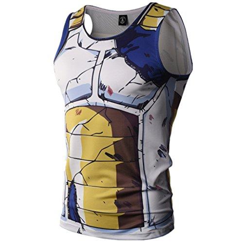 Men's Compression Tank Top Muscle T-Shirt 3D Cartoon Gym Sleeveless Vest