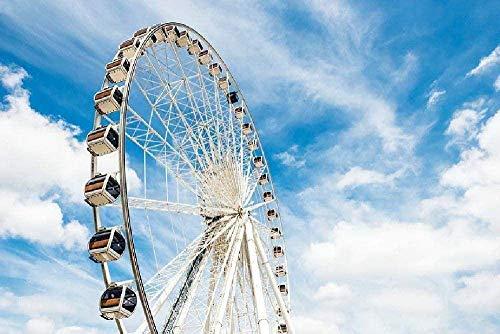 ZLJ Vaivén Puzzle 1000 Piezas Materiales De Madera Clásico Y Divertido De Los Juguetes Ferris Wheel Casual Juegos De Puzzle Juegos De Montaje para Niños Y Adultos