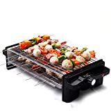 Electric Grill Portable Double Electric Grill Indoor Barbecue with Large Easy Cleanup Cooking
