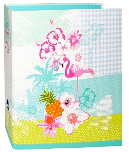 alles-meine.de GmbH Ordner / Ringbuch / Sammelordner -  Flamingo & Hibiskus Blume - Hawaii  - A4 - extra breit - Ringordner für Dokumente / 2 Ring & Hebel - Mechanik - Aktenord..