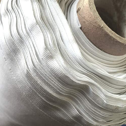 Sábana de polialgodón prémium, 240 cm de ancho, se vende por metros, tela de cama lisa, color blanco (240 cm de ancho)