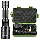 Rechargeable Tactical Flashlight High Lumens LED 18650 5000mAh Battery Charger Micro USB Cable Gift Box Included L2 Big Torch Portable Aluminum Flash Light For Emergency Camping Hiking