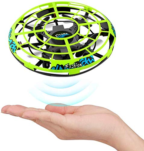 CT Selbstfliegendes 3D Quadrocopter UFO Infrarot Sensor Induktion Drohne (gelb)