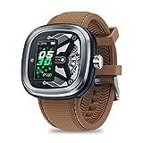 Zeblaze Hybrid 2 HR Reloj Inteligente Deportivo, Dual Smartwatch Hombre 50M Impermeable Bluetooth 4.0 Reloj Inteligente con Monitor de Ritmo Cardíaco/Sueño, Podómetro para iOS Android (Astilla)
