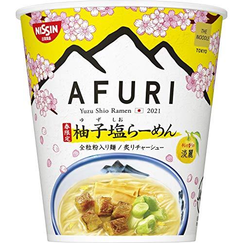 日清 The Noodle Tokyo AFURI 春限定 柚子塩らーめん 淡麗 93g ×12個