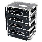 C4Labs Zebra Bramble Cluster Fan Case – Raspberry Pi 4B & 3B+ (4 Stack, Black Ice)