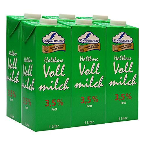 Schwälbchen Haltbare Vollmilch, 3,5% Fett, 6er Pack
