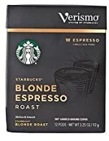 Starbucks Verismo Blonde Espresso pods スターバックス ヴェリスモ ブロンドエスプレッソポッド12杯分 [並行輸入品]