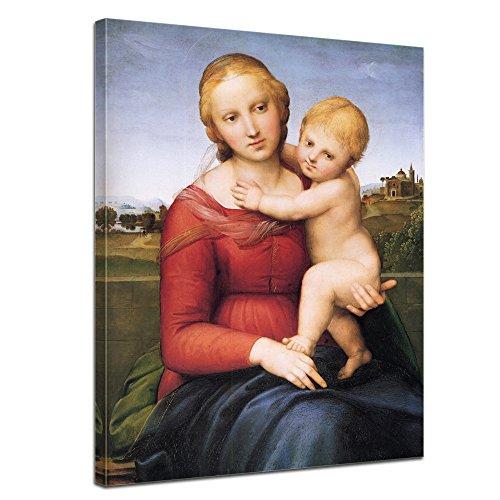 Bilderdepot24 murale Raffael - Madonna con Bambino 40x50cm - Tela Immagine Antichi Maestri Pittura Tela Fotografica Immagine su Tela