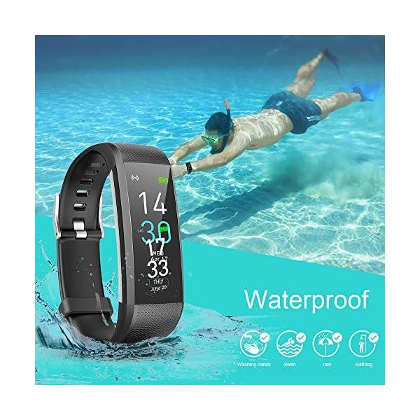 Pulsera de Actividad, Inteligente Reloj Deportivo, IP68 para Hombre Mujer con GPS Monitor de Sueño Podómetro Contador… 2