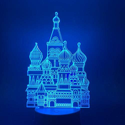 Baby Girl Raumdekoration Nachtlicht Schreibtisch Tischlampe Cartoon Schöne Cinderella Castle 3D Illusion Led Nachtlicht Licht