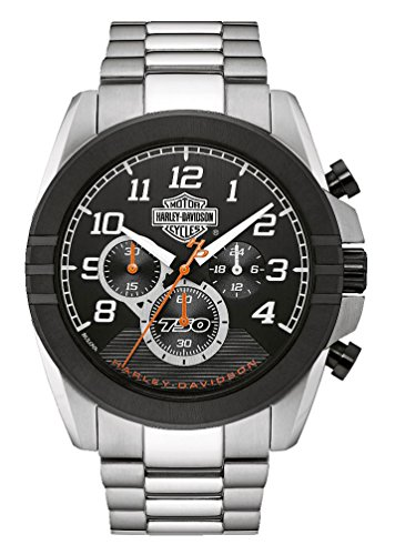Harley-Davidson Men's Six-Hand Chronograph Watch, Two-Tone Steel Case 76B175