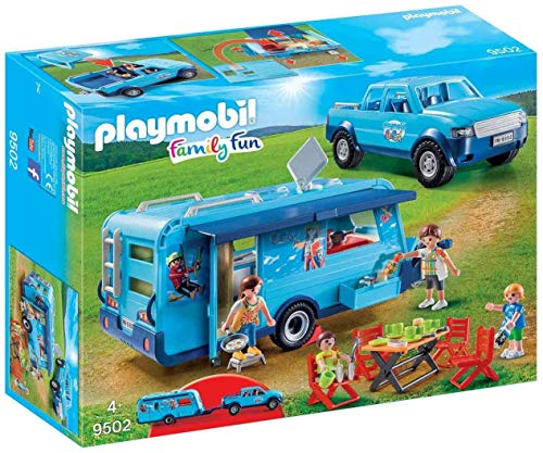 Playmobil - 9502 - Fun Park Pick up et Caravane