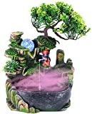 Fuente de jardín japonesa con cascada de agua ionizadora para relajación y meditación