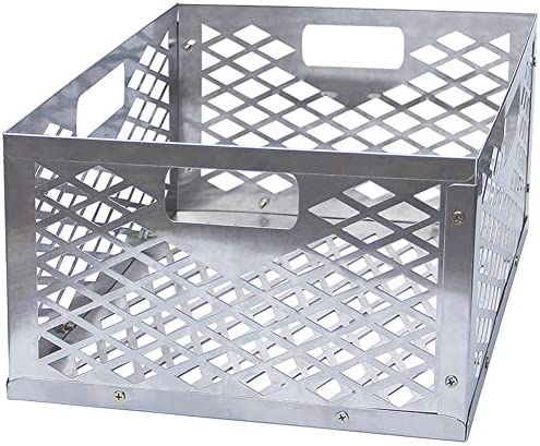 FORUP Upgraded Charcoal Basket Firebox Basket Smoker Pit Stainless Steel Charcoal Box BBQ Smoker product image