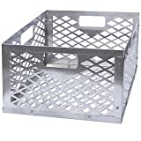 FORUP Upgraded Charcoal Basket, Firebox Basket, Smoker Pit, Stainless Steel Charcoal Box, BBQ Smoker Accessories, Silver