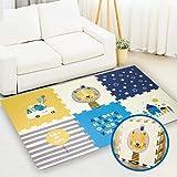 Puzzelmatten für Babys Spielmatte Baby Teppich Kinderzimmer XPE-Schaumboden Rutschfest Extra Groß Wendbare Doppelseiten für Innen- oder Außenbereich Bunt (167x114x2cm)