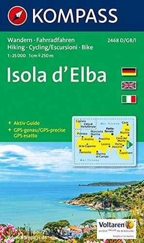 Carta escursionistica n. 2468. Isola d'Elba 1:25.000