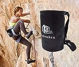 Hiwalker Magnesera de Escalada Bolsas de magnesio para Escalada con Bolsillo y cinturón para Alpinismo Gimnasia Levantamiento de Pesa (Negro)