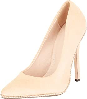 Cambridge Select Women's Pointed Toe Studded Stiletto Extra High Heel Pump