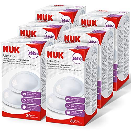 NUK Ultra Dry Comfort Einweg-Stilleinlagen | Einlagen zum Stillen | Einzelverpackung | 180 Stück
