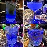 Juego de 2 posavasos luminosos LED – Juego de posavasos para vasos, ginebra, cóctel, champán, posavasos LED (cuadrado, 9,5 x 9,5 cm) para mesa, fiesta y bar, color azul