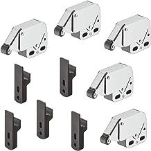 Gedotec Meubelsnapper kast-veersnapper schuifladen druksluiting MINI-LATCH | deursnapper staal vernikkeld - rol zwart | 5 ...
